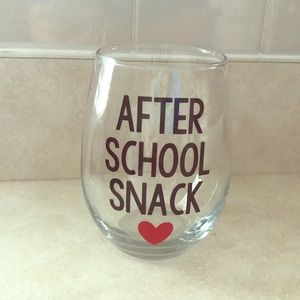 Accessories - Stemless wine glass with cute lettering